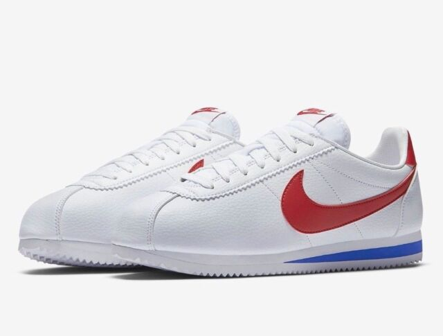 timeless design c1112 88904 Nike Classic Cortez Leather Forrest Gump Men Lifestyle Casual SNEAKERS White  13
