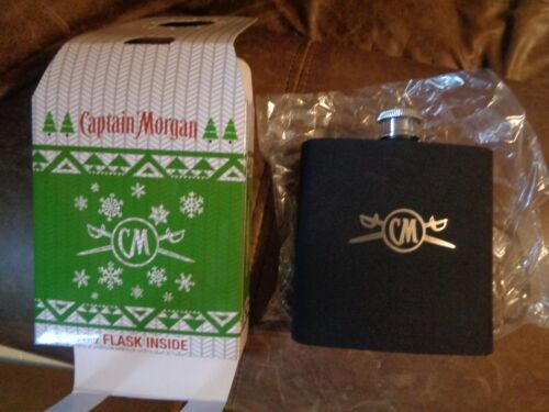 CAPTAIN MORGAN RUM 6 OZ FLASK NEW IN GIFT BOX COOL!