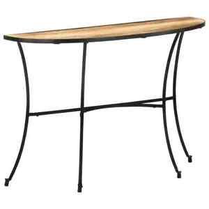vidaXL Bois de Manguier Massif Table d'Appoint Table Console Couloir Salon