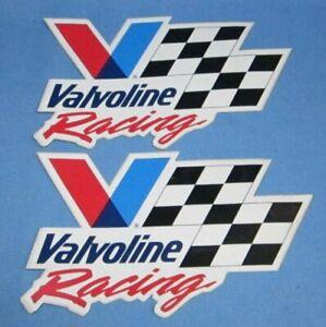Two Vintage 1980s Valvoline Racing Decals