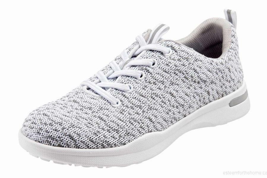 Softwalk SAMPSON damen Weiß Knit Lace Up Comfort Lightweight Walking schuhe