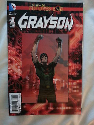 DC NEW 52 GRAYSON FUTURES END #1 3D COVER