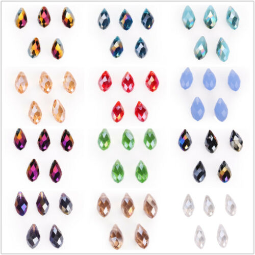 30pcs Teardrop Crystal Loose Faceted Glass Beads for DIY Jewelry Making 10x20mm