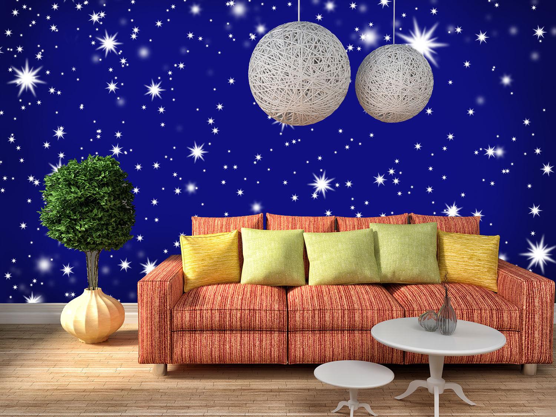 3D Viele Blaue sterne 9553 Fototapeten Wandbild Fototapete BildTapete Familie DE