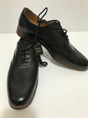 Goodfellow /& Co Black 8 Men/'s Pierce Leather Oxford Brogue Dress Shoes