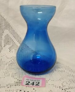 Vintage-Blue-Glass-Vase-Bulb-Forcing-Vase