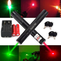 Military 532nm Green Laser Pointer +red Laser Pointer +18650 Battery + Charger