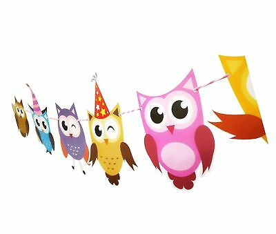 E L 2 Set Of Owl Pal Party Themed Decorations Kit Birthday Party