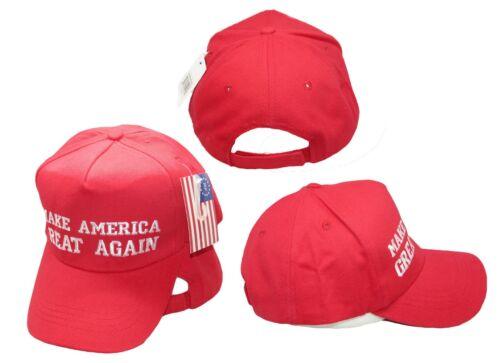 Donald Trump Red Make America Great Again President Republican Cap Hat Premium
