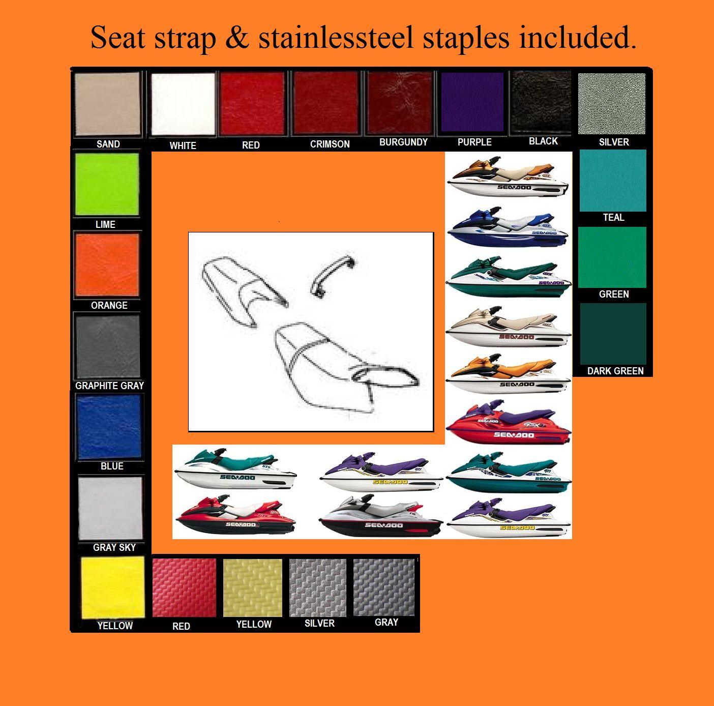 Jet Ski GTS-GTI-GTX Sea Doo Seat Cover 02-067 Purple *new* :