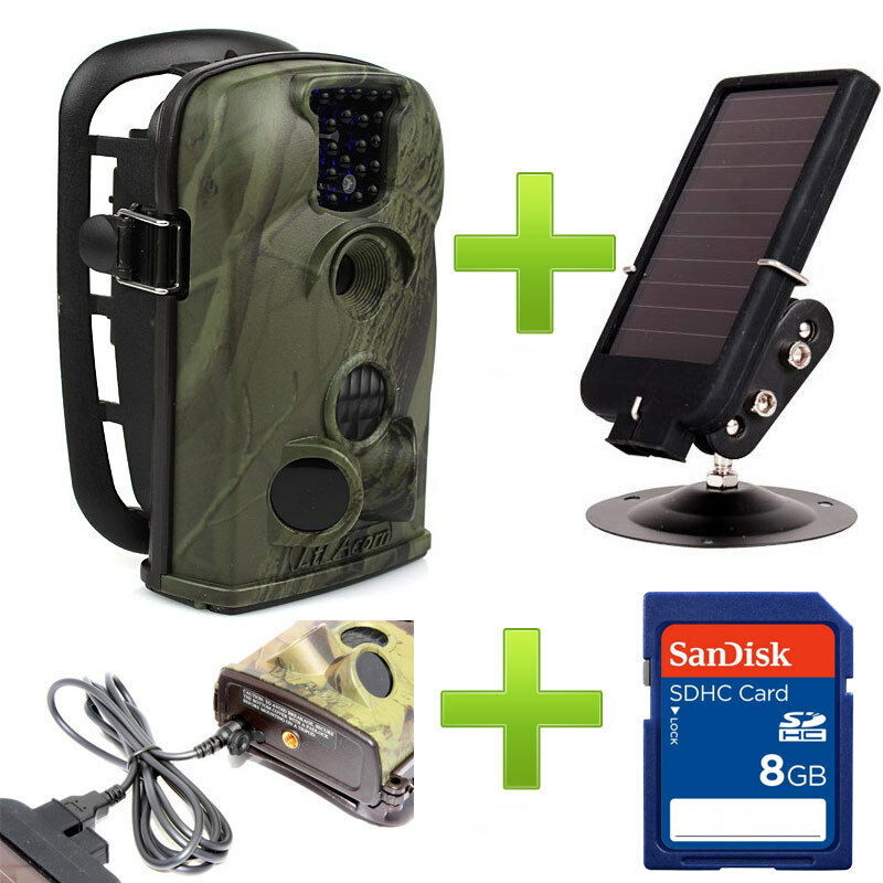 8GB 12MP Ltl Acorn 5210A  940NM Hunting Game Trail Camera + Ltl-SUN Solar Charger  factory outlets