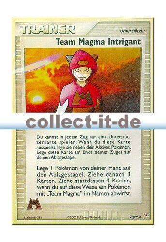 Team Aqua 70//95 Team Magma Intrigant Reverse Holo Deutsch Pokemon Magma vs