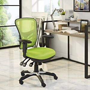 Modern-Adjustable-Ergonomic-Mesh-MidBack-Computer-Desk-Office-Chair-in-Green