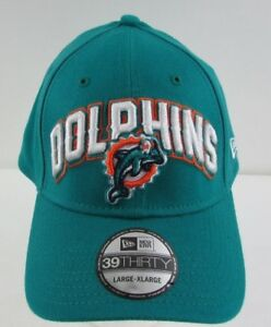 huge selection of 8b56e fc38c Image is loading Miami-Dolphins-New-Era-39THIRTY-Hat-Team-Color-
