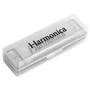 Diatonic-Stainless-Steel-20-Tone-Country-Harmonica-Key-Of-C-Blues-10-Holes