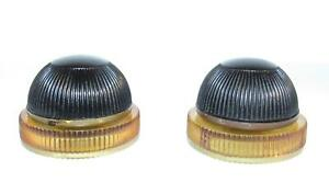 2 Late 1940's Zenith round black radio knobs.   Used on several Zenith models.