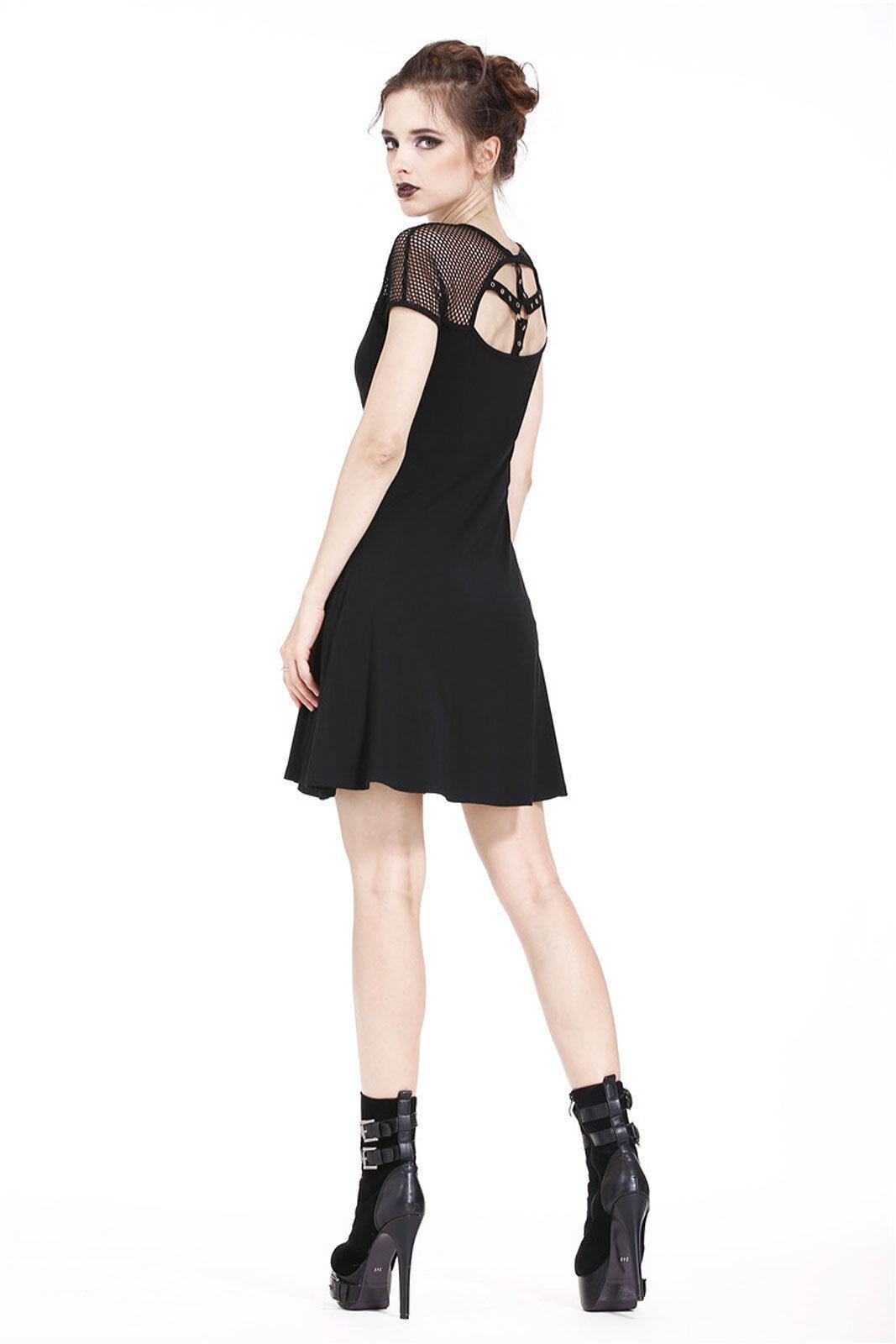 DARK IN LOVE Emo Star Gothic Kleid mit Netzärmeln und und und Metall-Stern Goth Dress | Exquisite Verarbeitung  | Sale  | Ruf zuerst  |  Neuer Markt  | Neuer Stil  fdf394