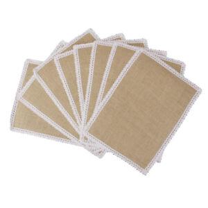 10pcs-Retro-Hessian-Rustic-Kitchen-Placemats-Burlap-Table-Mats-Sheet-Decor