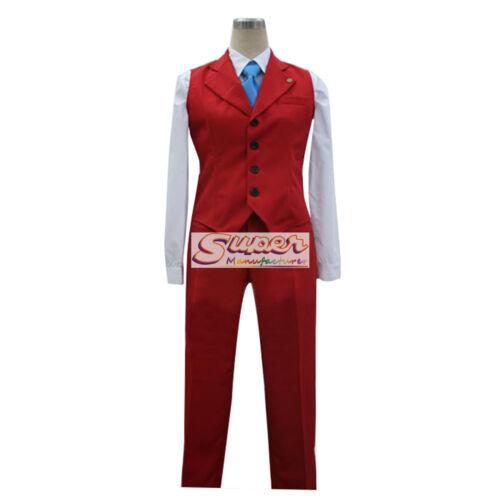 Ace Attorney Apollo Justice Uniform COS Clothing Cosplay Costume