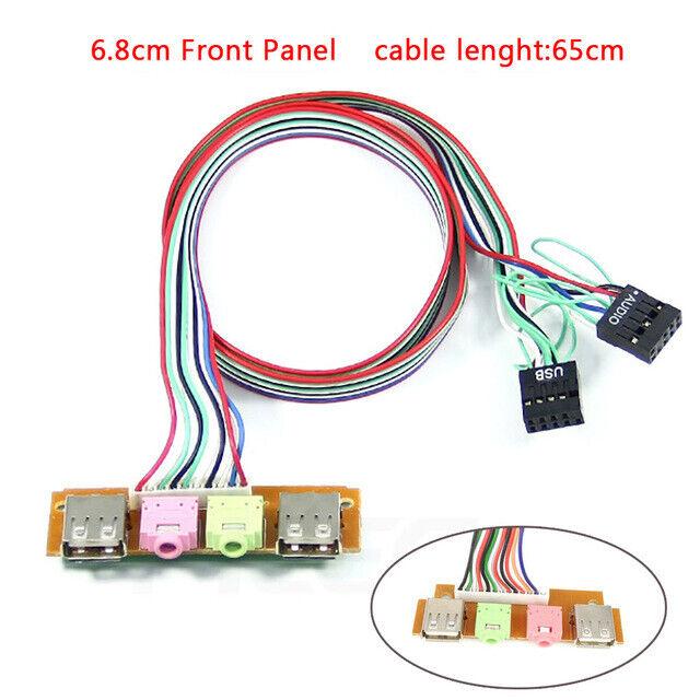 PC Computer Case Front Panel USB Audio Port Mic Earphone Cable USB 2.0+3.0 Ports