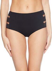 Seafolly-Women-039-s-173146-Quilted-High-Waisted-Bikini-Bottom-Swimwear-Size-8