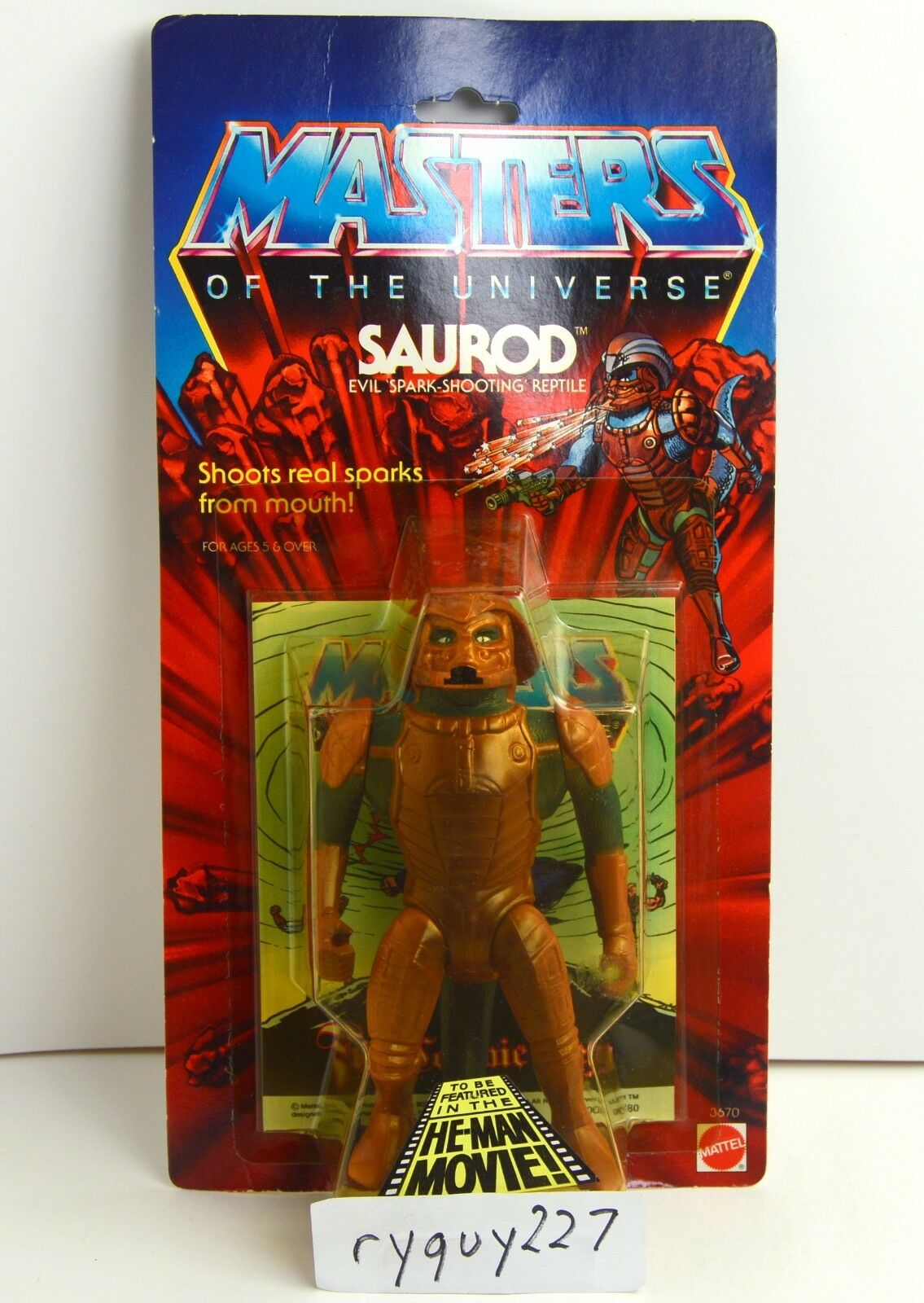 MOTU, Saurod, Masters of the Universe, MOC, carded, figure, He Man, sealed, MOSC