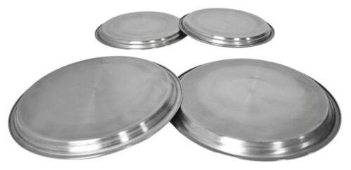 4pc plaque couvre en Acier Inoxydable Cuisinière électrique brûleur anneau Protecteurs Couvercle Argent