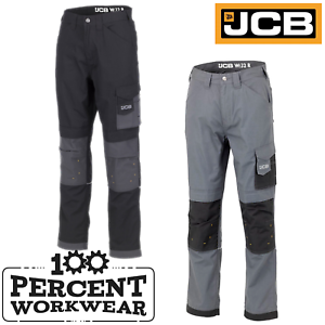 shop for the cheapest convenience goods Details about JCB Workwear Trade Rip Stop Mens Work Trousers Pants Knee Pad  Pockets Black Grey