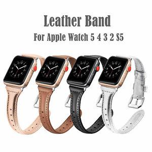 Lederband-Armband-fuer-Apple-Watch-Serie-5-4-3-2-iWatch-S5-Armband
