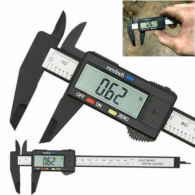 """Stainless Steel Electronic Digital LCD Vernier Caliper-Micrometer 6/"""" Guage I1Z3"""