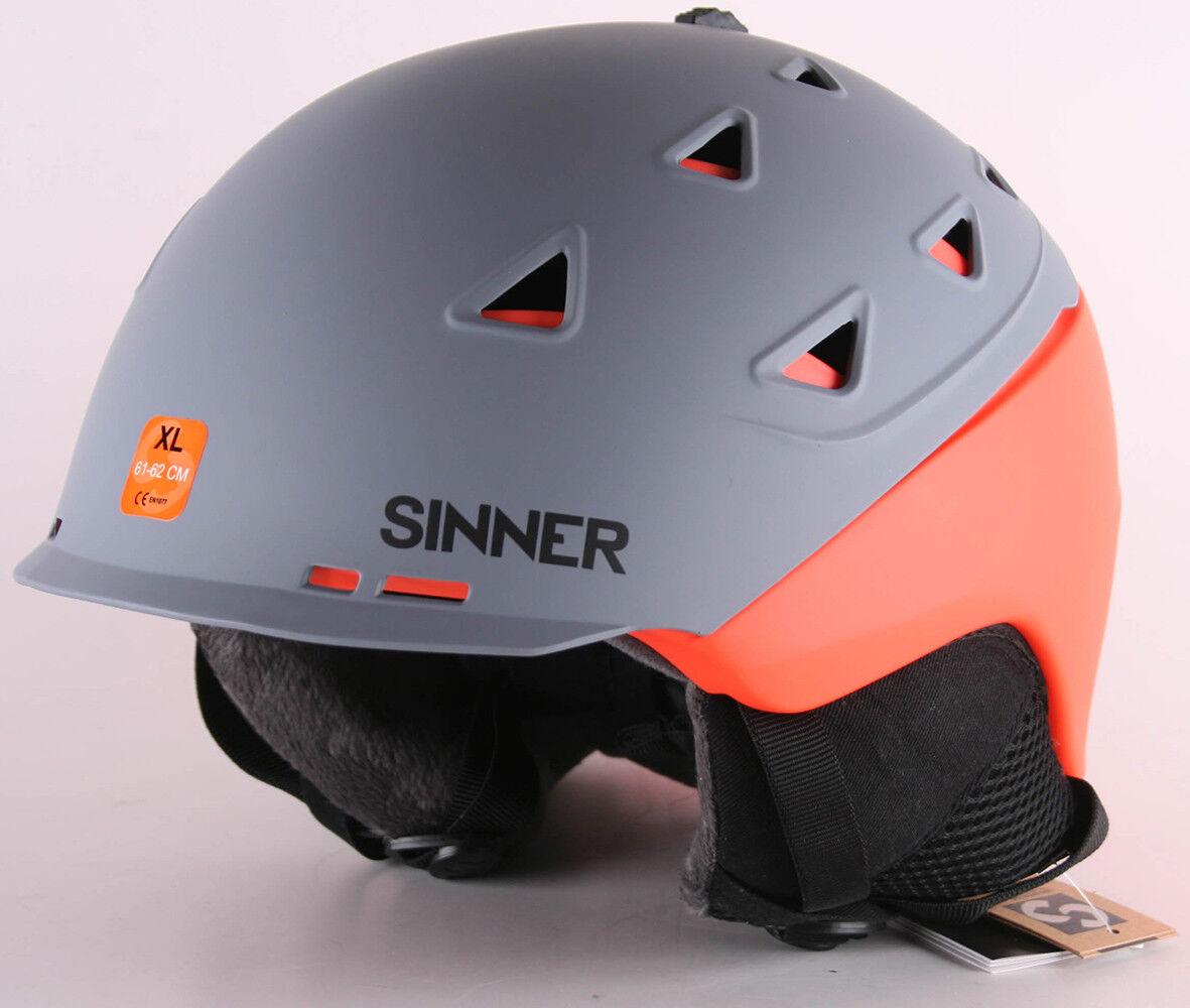 Sinner Stoneham Unisex Exterior Esquí Casco Casco de Esquí gris 61-62cm XL