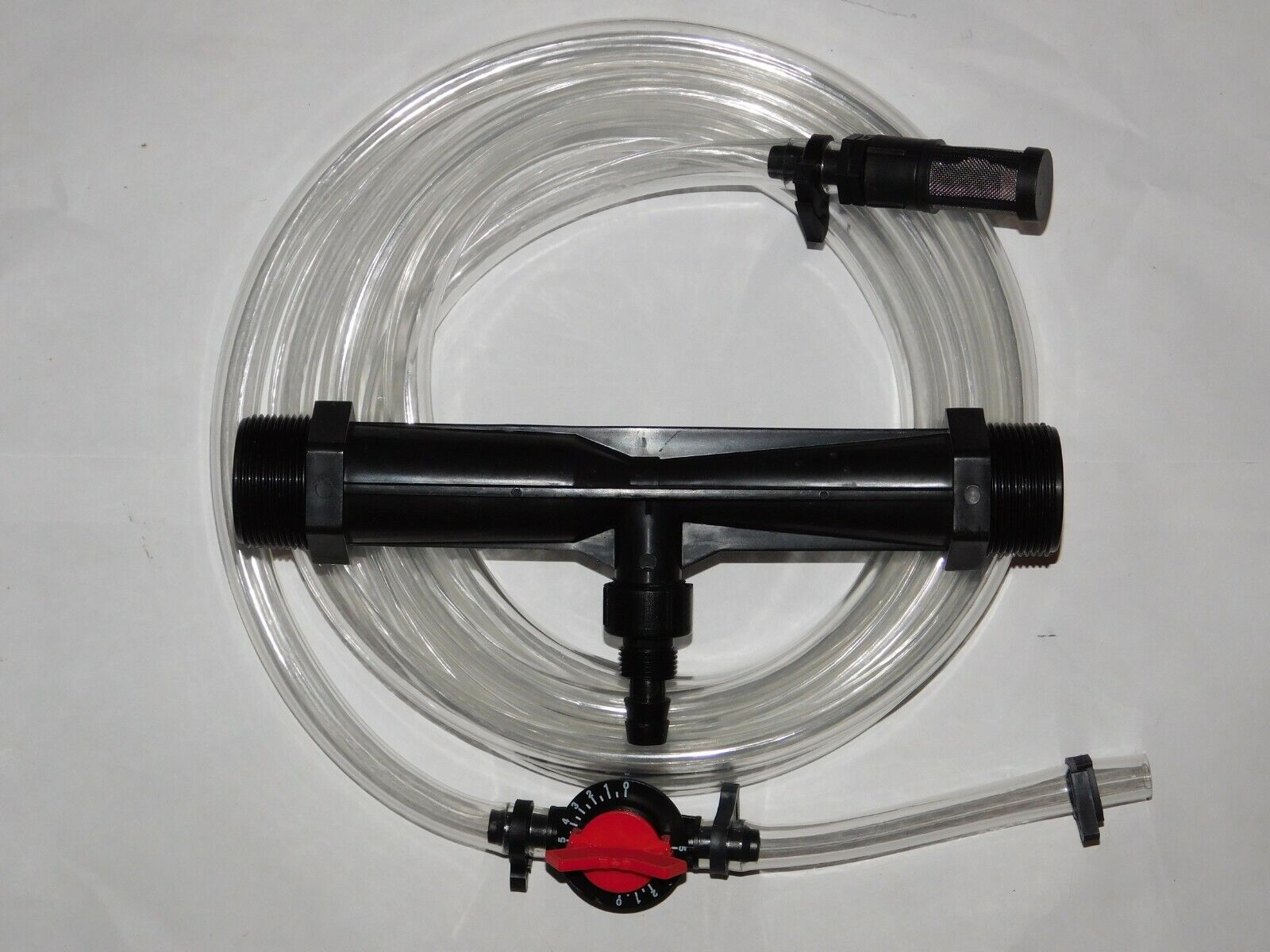 "1/"" Irrigation Venturi Fertilizer Mixer Injectors Agriculture Garden Water Tub BW"