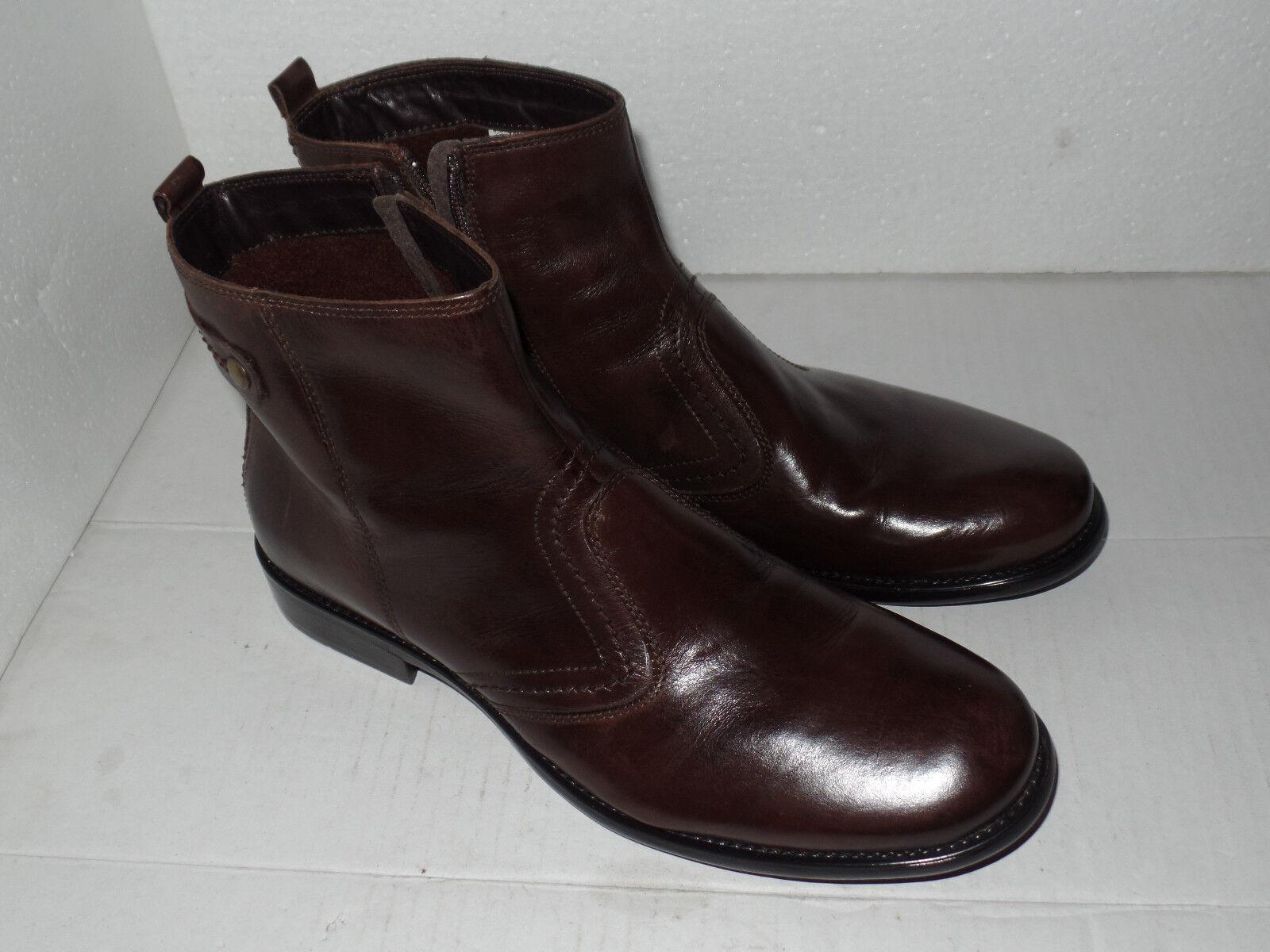 Claudio Conti Stiefel, Herren Echtleder-Stiefelette, Boots, Schuhe Gr. 42