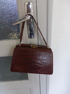 664c0c1b45 ancien sac a main epaule marron Marque Toutain annee 50 marron ...