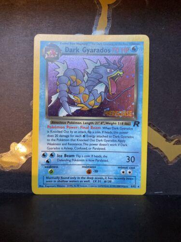 DARK GYARADOS Prerelease Team Rocket NM Holo Stamped Pokemon 8//82