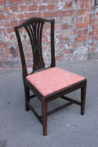 SINGLE-ANTIQUE-MAHOGANY-OCCASIONAL-SIDE-CHAIR-BEDROOM-CHAIR-DINING-CHAIR
