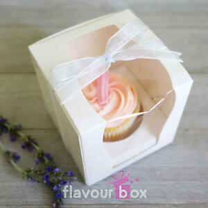 Elegant wedding bomboniere white single cupcake boxes baby shower image is loading elegant wedding bomboniere white single cupcake boxes baby junglespirit Gallery