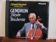 GENDRON Haydn/Boccherini conc. violoncello +CD-Grandi interpreti-Philips-DeAgos