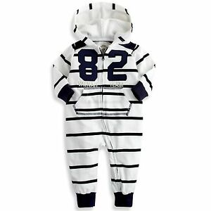 "NWT Vaenait Baby Newborn Boy/'s Fleece Hoodie Jumpsuit Onepiece /""Lighting Star/"""