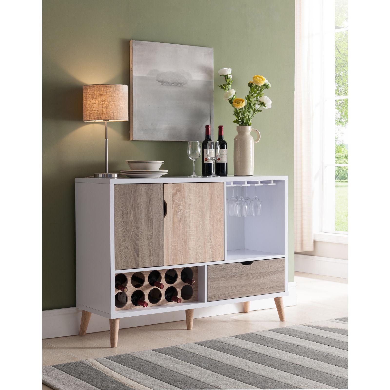 Modern Mid-Century Dining Room Storage Wine Rack Buffet Cabinet -  MULTI-COLORED