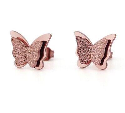Tri Color Butterfly Dangle Earrings Aretes de Mariposa Oro Laminado 18K Gold Plated Butterfly Earrings Gold Butterfly Earrings