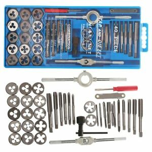40PC-PROFESSIONAL-METRIC-TAP-WRENCH-AND-DIE-SET-CUTS-M3-M12-BOLTS-CASE-Q1R5