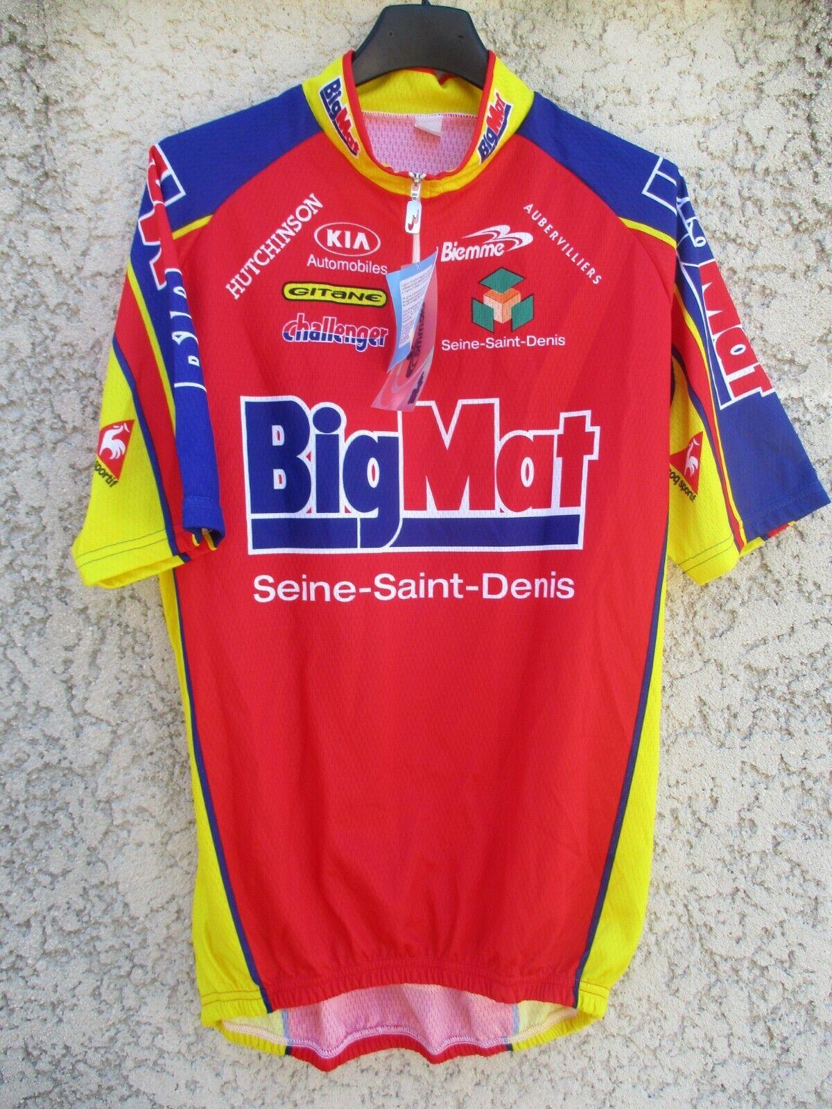 Maillot cycliste  BIGMAT AUBER 93 2002 BIEMME cycling shirt trikot maglia NEUF XL  nueva marca