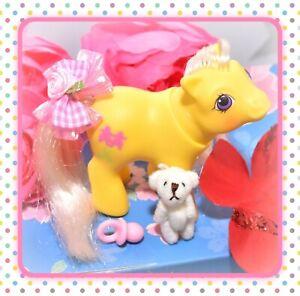 My-Little-Pony-MLP-G1-Vtg-1987-BABY-Peek-a-Boo-Snippy-Yellow-Scissors-Pony
