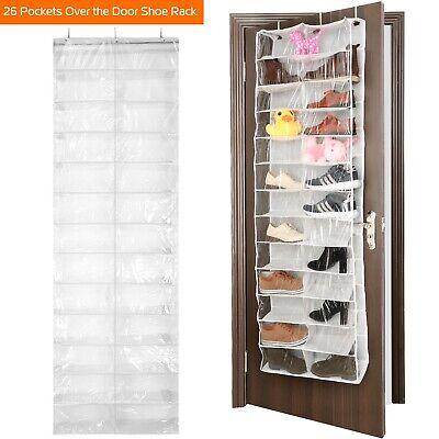 26 Pockets Over The Door Shoe Rack Hanging Shoe Organizer Shelves USA | EBay
