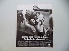 advertising Pubblicità 1971 FS FERROVIE DELLO STATO TRENI