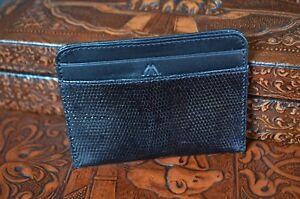 Geldbörsen & Etuis Offen Kreditkartenhalter Herren Echse Schwarz Handmade Cardholder Ma Leather Amalfi 23 Fest In Der Struktur