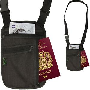 RFID Blocking Travel Body Wallet Passport Holder Neck Shoulder ... 5f65ce785bd