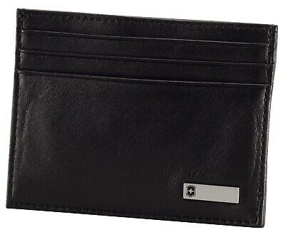 Victorinox Swiss Army Rome Leather Money Clip Card Sleeve Wallet