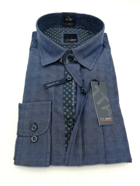 Hemd Herrenhemd Shirt Kentkragen Langarm Binder de Luxe 82707 marine Blau